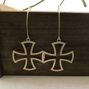 Handmade gold earrings